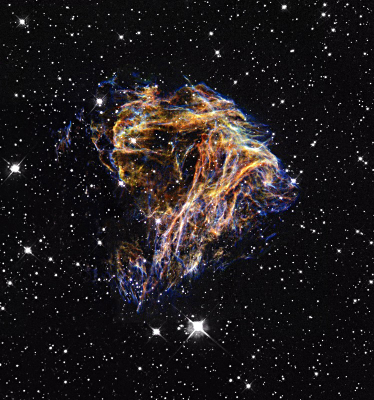 Supernova remnant N49 is located within the Large Magellanic Cloud.
