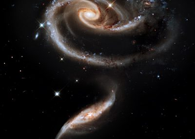 Arp 273 which is a pair of spiral galaxies interacting with each other.