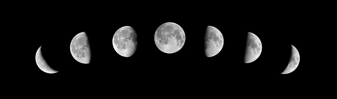 Multiple phases of the Moon