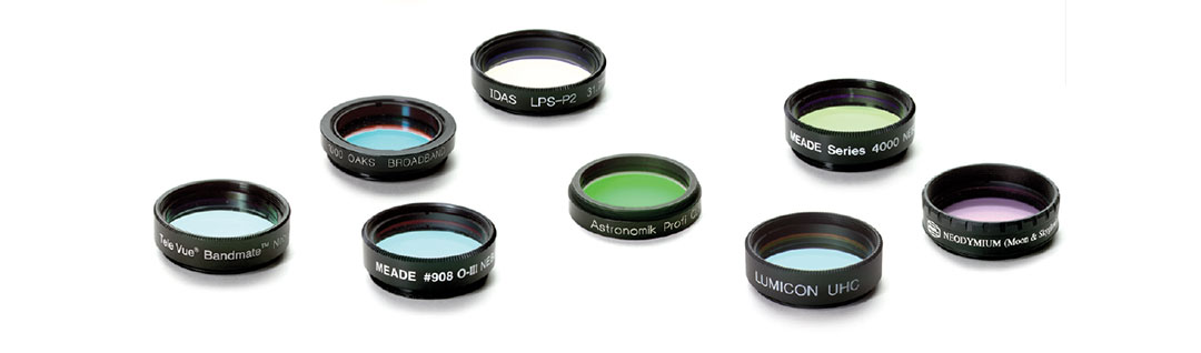 A collection of telescope filters