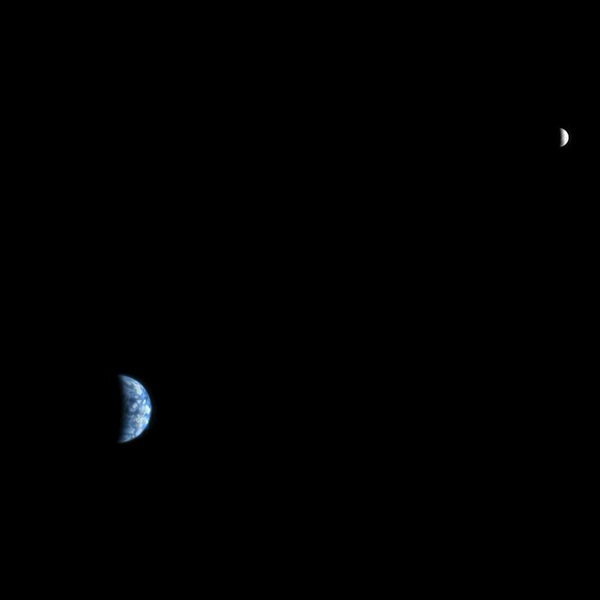 The first picture of Earth from another planet was captured on October 3, 2007 from 88 million miles (142 kilometers) from Earth.