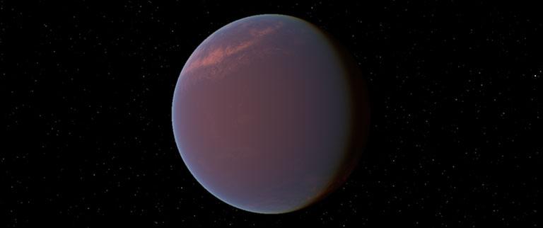 An artist's concept of the water world GJ 1214 b