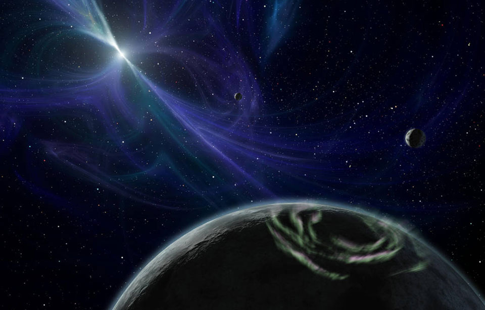 Exoplanet PSR B1257+12, the first confirmed exoplanet, orbits a pulsar