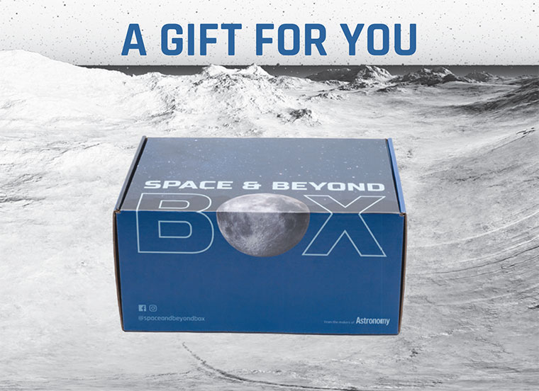 "The digital card featuring the box and the tagline ""A Gift for you"""