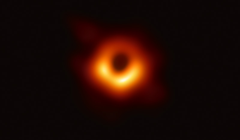 an image of the black hole at the center of galaxy M87