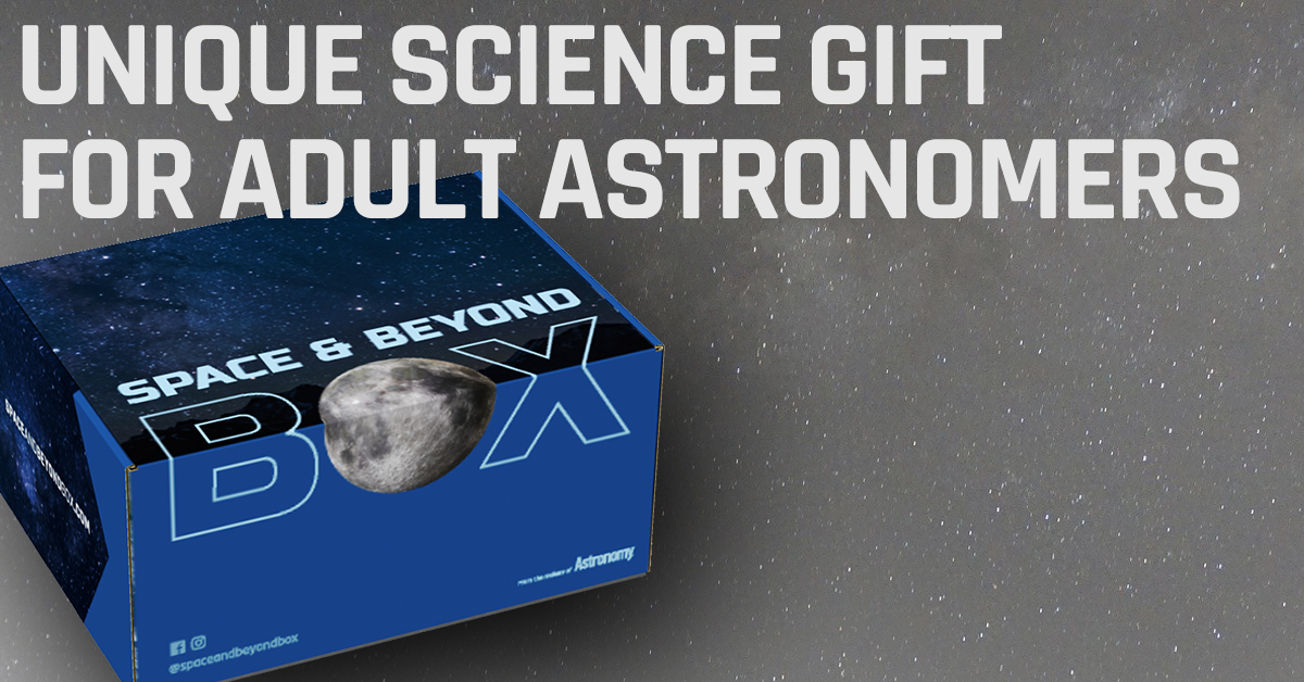 The Space & Beyond Box is a unique science gift for adult space enthusiasts