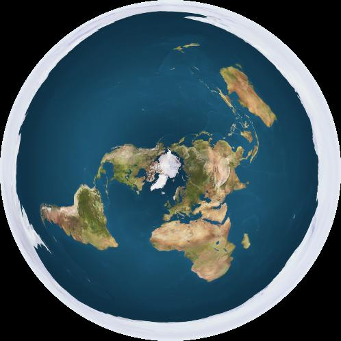An illustration of what a flat Earth would look like.
