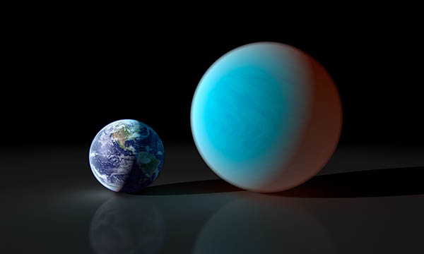 Earth next to a Super Earth