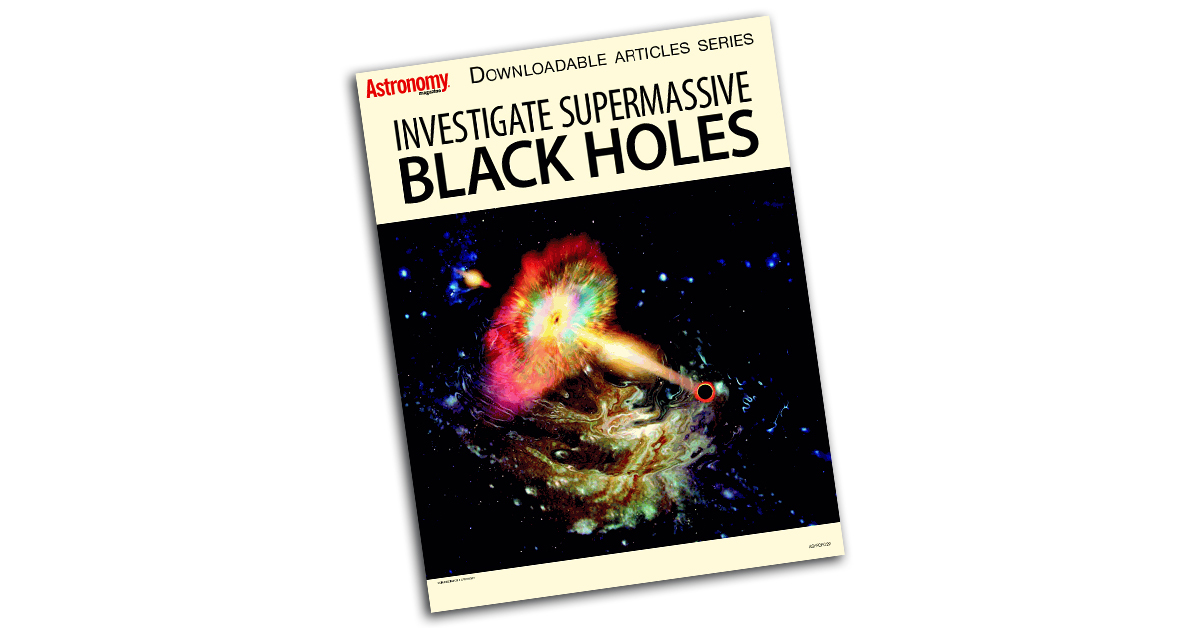 The cover of the investigate supermassive black holes articles