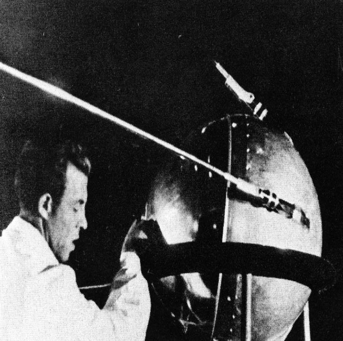 a scientist working on sputnik