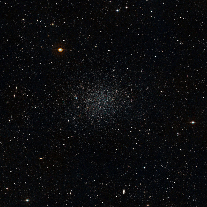 A dwarf galaxy showing a cluster of stars
