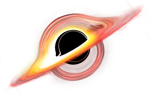 An illustration of a black hole