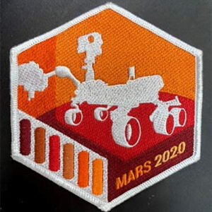 The Mars Perseverance Rover patch showing an illustration of the rover