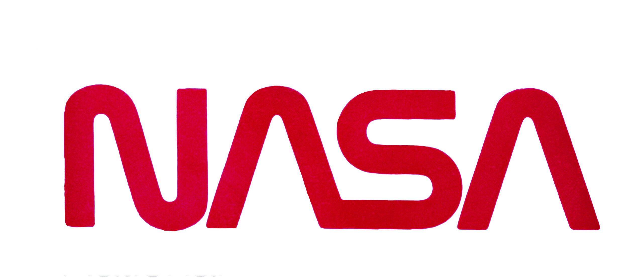 The Nasa logo showing just the name in red