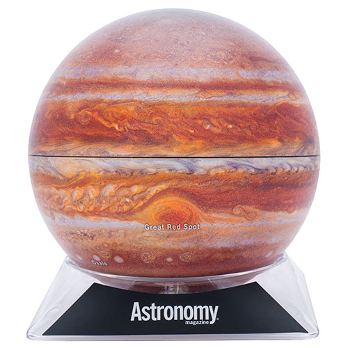 A globe of Jupiter