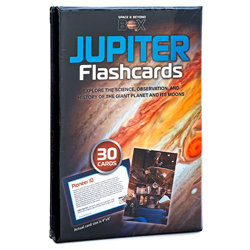 The box cover showing the planet Jupiter