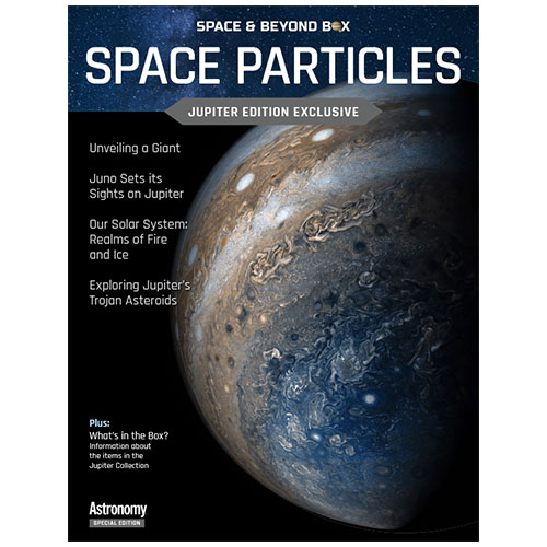 The cover of Space Particles showing Jupiter