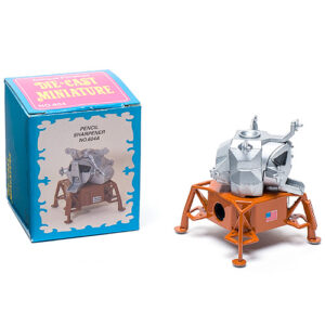 a die cast pencil sharpener in the shape of the apollo moon lander